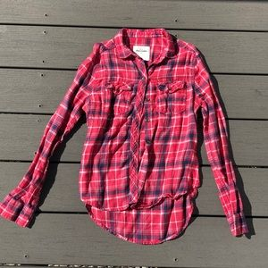 Abercrombie Kids Pink Flannel